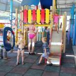 """Детская игровая зона на пляже. Санаторий """"Ай-Петри"""", Мисхор"""