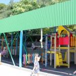 Детская игровая площадка на пляже санатория Ай-Петри, Мисхор
